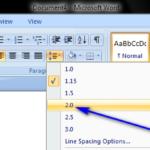Cómo doblar las líneas de espacio en Microsoft Word