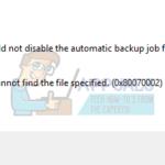 """Cómo solucionar el error """"El sistema no puede encontrar el archivo especificado"""" 0x80070002"""