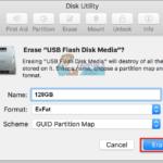 Cómo formatear la unidad flash en un Mac