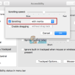 Arreglar: el pergamino de TrackPad no funciona en MacOS