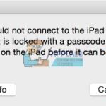 Arreglo: iTunes no pudo conectarse al iPhone/iPad o iPod Touch porque está bloqueado con una contraseña