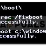 Arreglo: Boorec /Fixboot Element no se encuentra en Windows 10