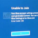 Corrección: Código de error 116 de Roblox en Xbox One App
