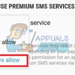 Cómo desbloquear mensajes cortos (SMS Premium) en Android Nougat